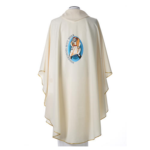 STOCK Pope Francis' Jubilee Chasuble with Latin writing 3