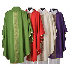 Chasuble polyester croix décors s2