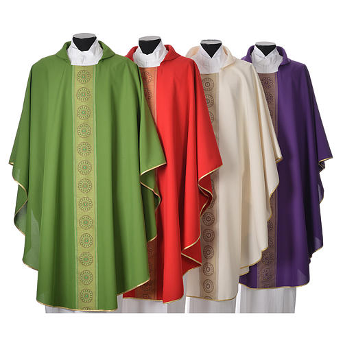 Chasuble polyester croix décors 1