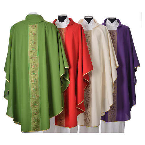 Chasuble polyester croix décors 2