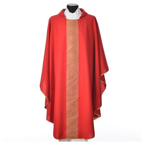 Chasuble polyester croix décors 5