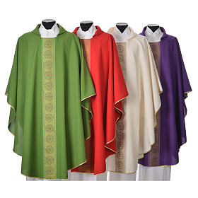 Chasuble polyester cross embellishments s1