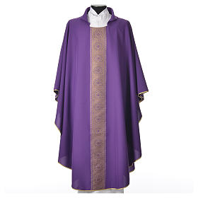 Chasuble polyester cross embellishments s3