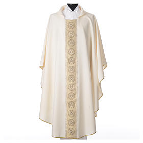 Chasuble polyester cross embellishments s4