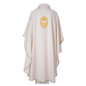 STOCK Chasuble Jubilee with LATIN stamp 100% polyester s2