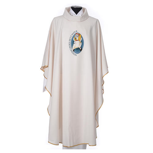 STOCK Chasuble Jubilee with LATIN stamp 100% polyester 1