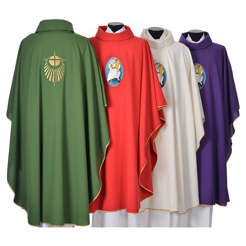 STOCK Chasuble Jubilee with LATIN application 100% polyester 2