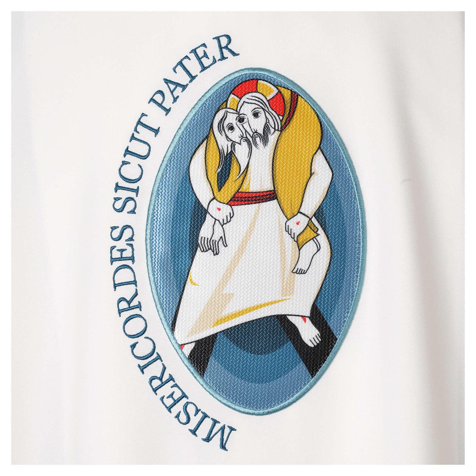 STOCK Chasuble Année Sainte avec application polyester 100% 4