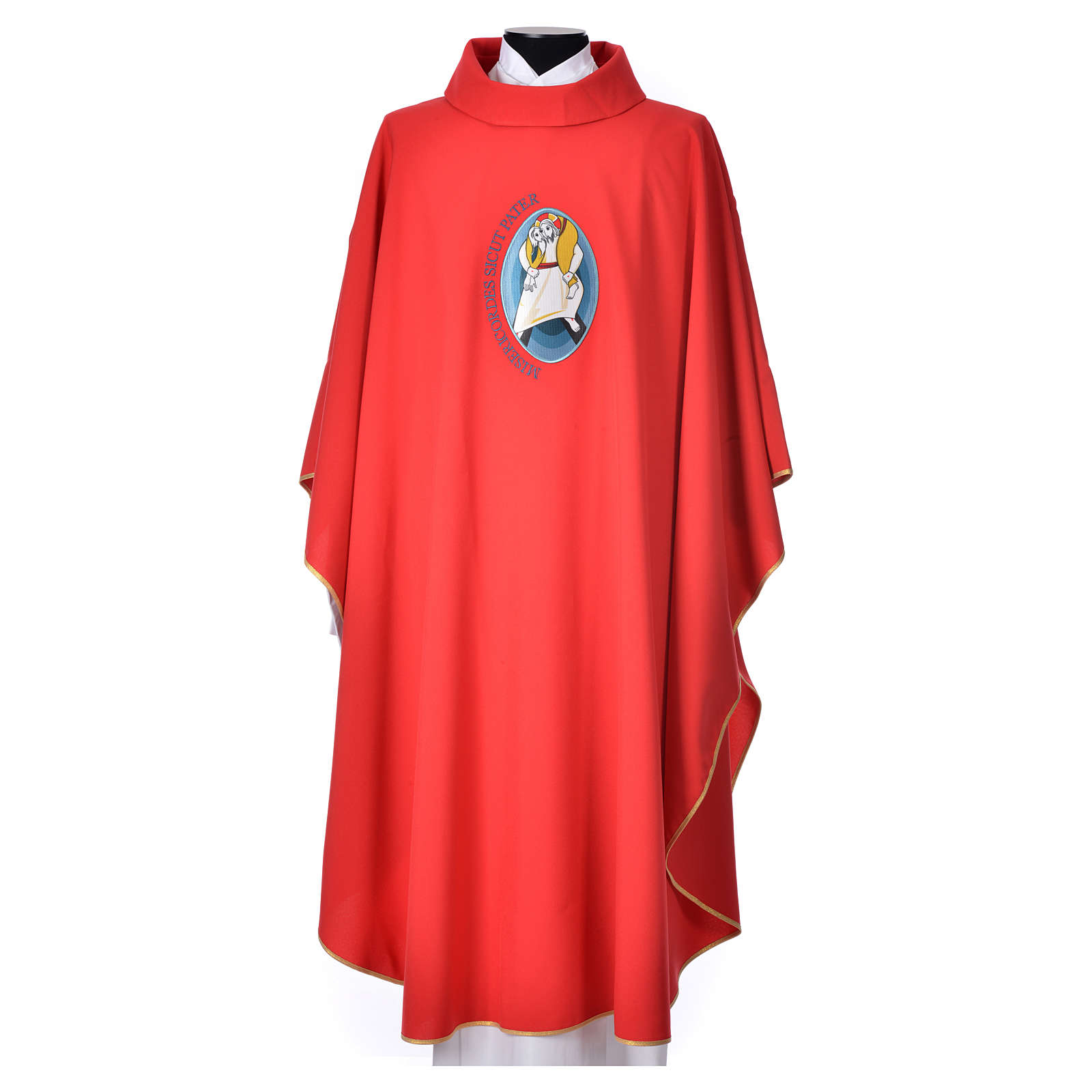 STOCK Chasuble Jubilee with LATIN application 100% polyester 4
