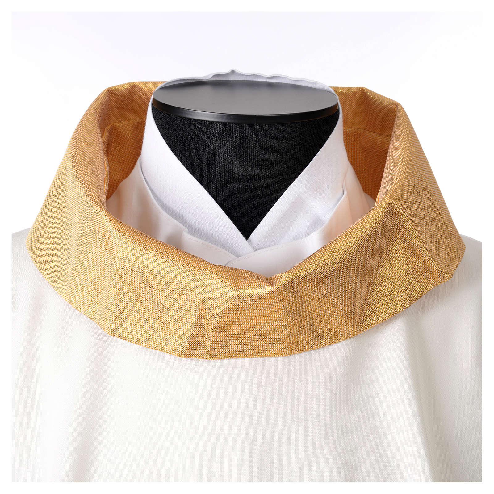 STOCK Chasuble Année Sainte avec application finition dorée polyester 100% 4