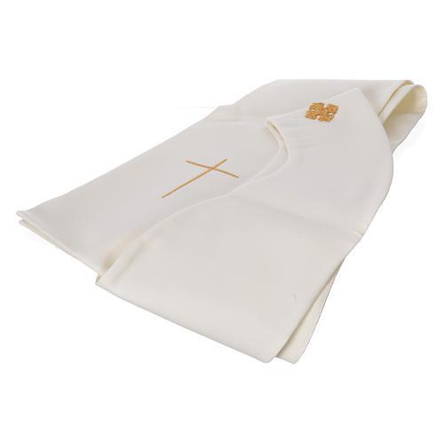 STOCK Chasuble Année Sainte avec application finition dorée polyester 100% 6