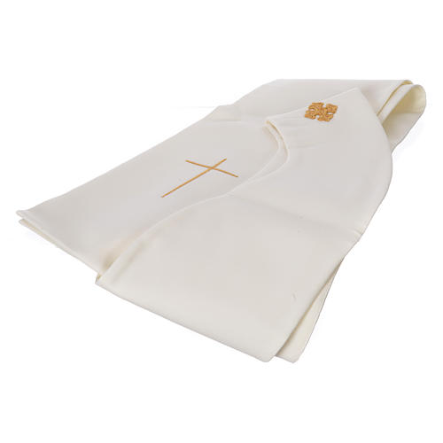 STOCK Chasuble Jubilee with LATIN application and golden finish 100% polyester 6