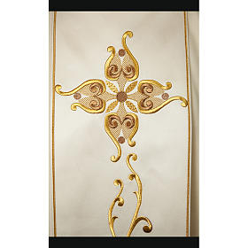 Catholic Chasuble in 100% wool and machine embroidered stole s2