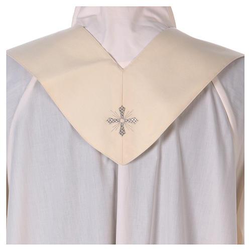 Chasuble mariale 100% serge de laine bande centrale col brodés 7