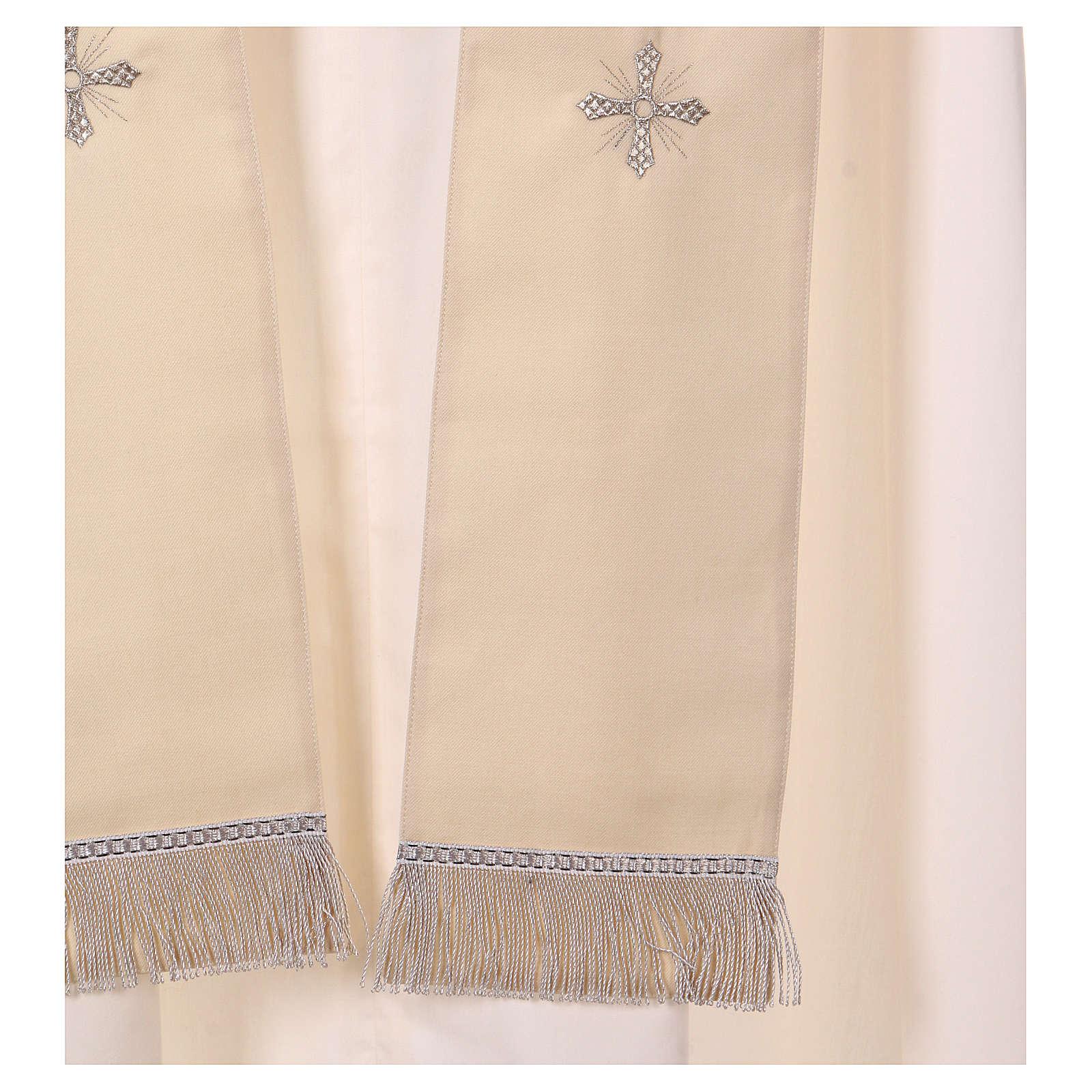 Casula Mariana 100% saglia di lana stolone collo ricamato 4