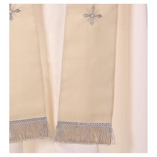 Casula Mariana 100% saglia di lana stolone collo ricamato 6