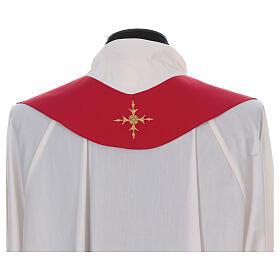Casula 100% lana ricamata croce intorno e sul collo s15