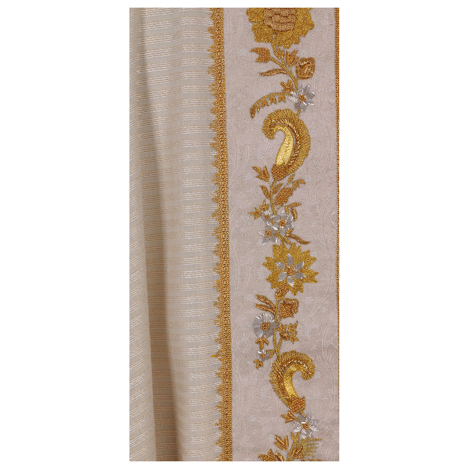 Casula 100% lana lurex leggerissimo stolone damascato ricamato 4