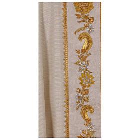 Casula 100% lana lurex leggerissimo stolone damascato ricamato s4