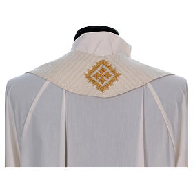 Casula 100% lana lurex leggerissimo stolone damascato ricamato s8