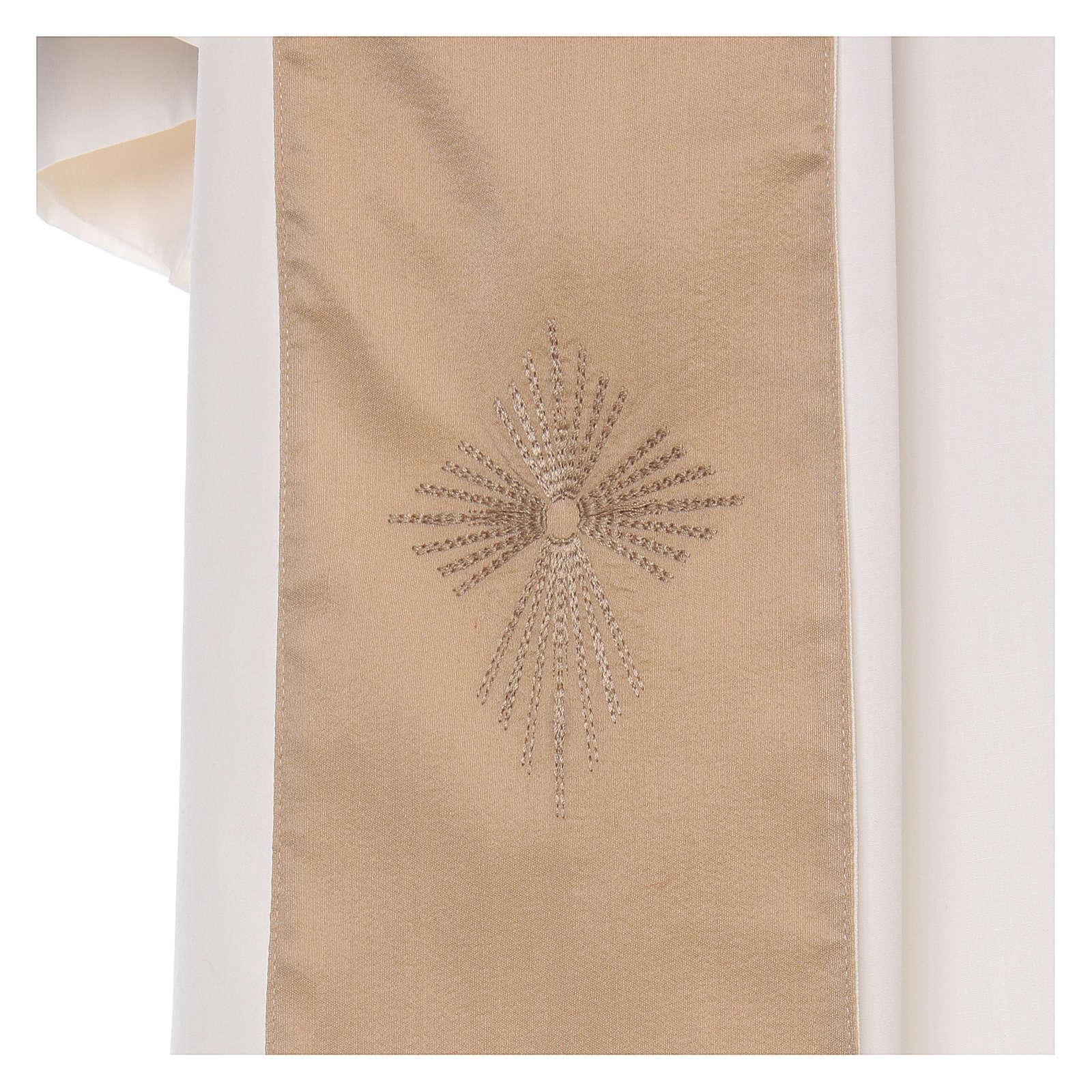 STOCK Casulla degradada lana seda muy liviana cruz bordada 4