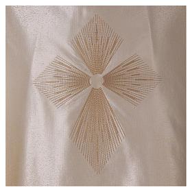 STOCK Casulla degradada lana seda muy liviana cruz bordada s2