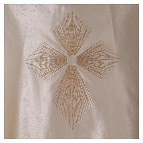 STOCK Casulla degradada lana seda muy liviana cruz bordada 2