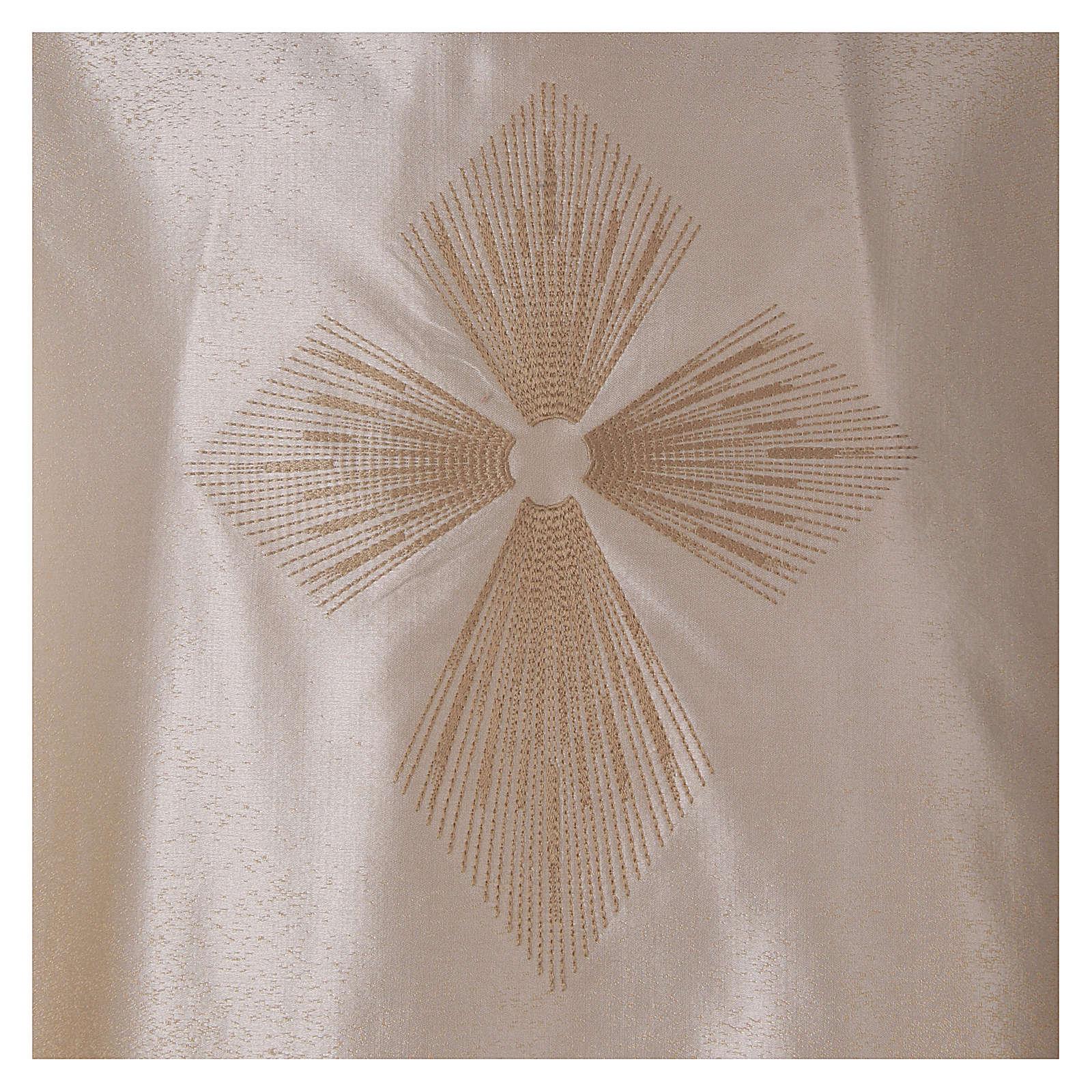 STOCK Casula sfumata lana seta leggerissima croce ricamata 4