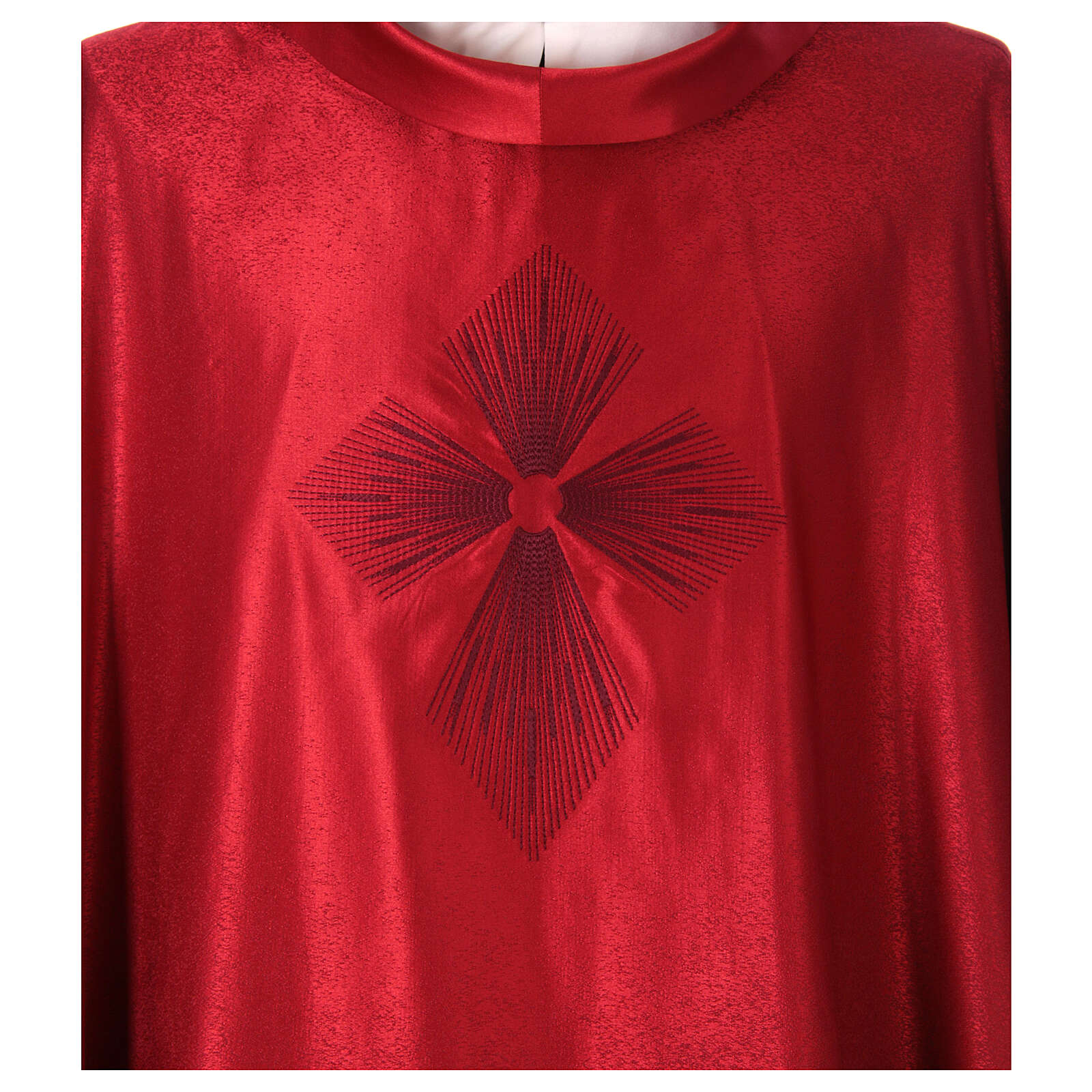 STOCK Casula gradiente lã seda levíssima cruz bordada 4