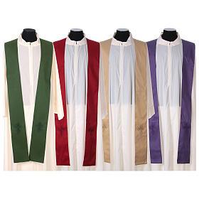 STOCK Casula gradiente lã seda levíssima cruz bordada s10