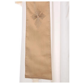 STOCK Casula gradiente lã seda levíssima cruz bordada s11