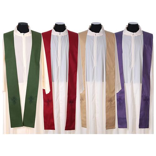 STOCK Casula gradiente lã seda levíssima cruz bordada 10