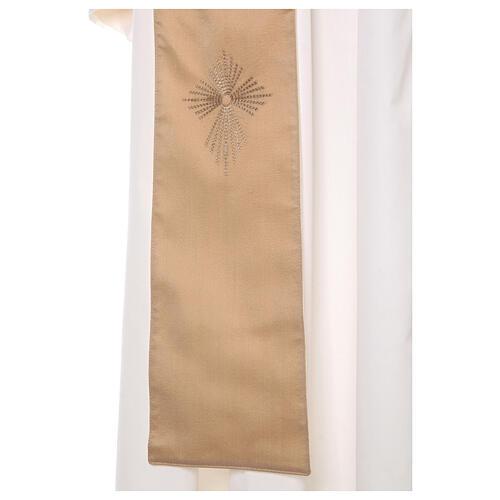 STOCK Casula gradiente lã seda levíssima cruz bordada 11