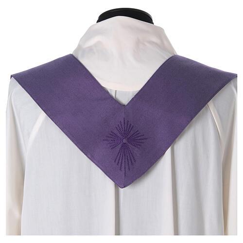 STOCK Casula gradiente lã seda levíssima cruz bordada 12