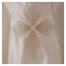 STOCK Liturgical Wool Chasuble in blended color with embroided Cross s2