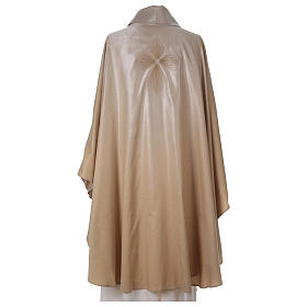 STOCK Liturgical Wool Chasuble in blended color with embroided Cross s3