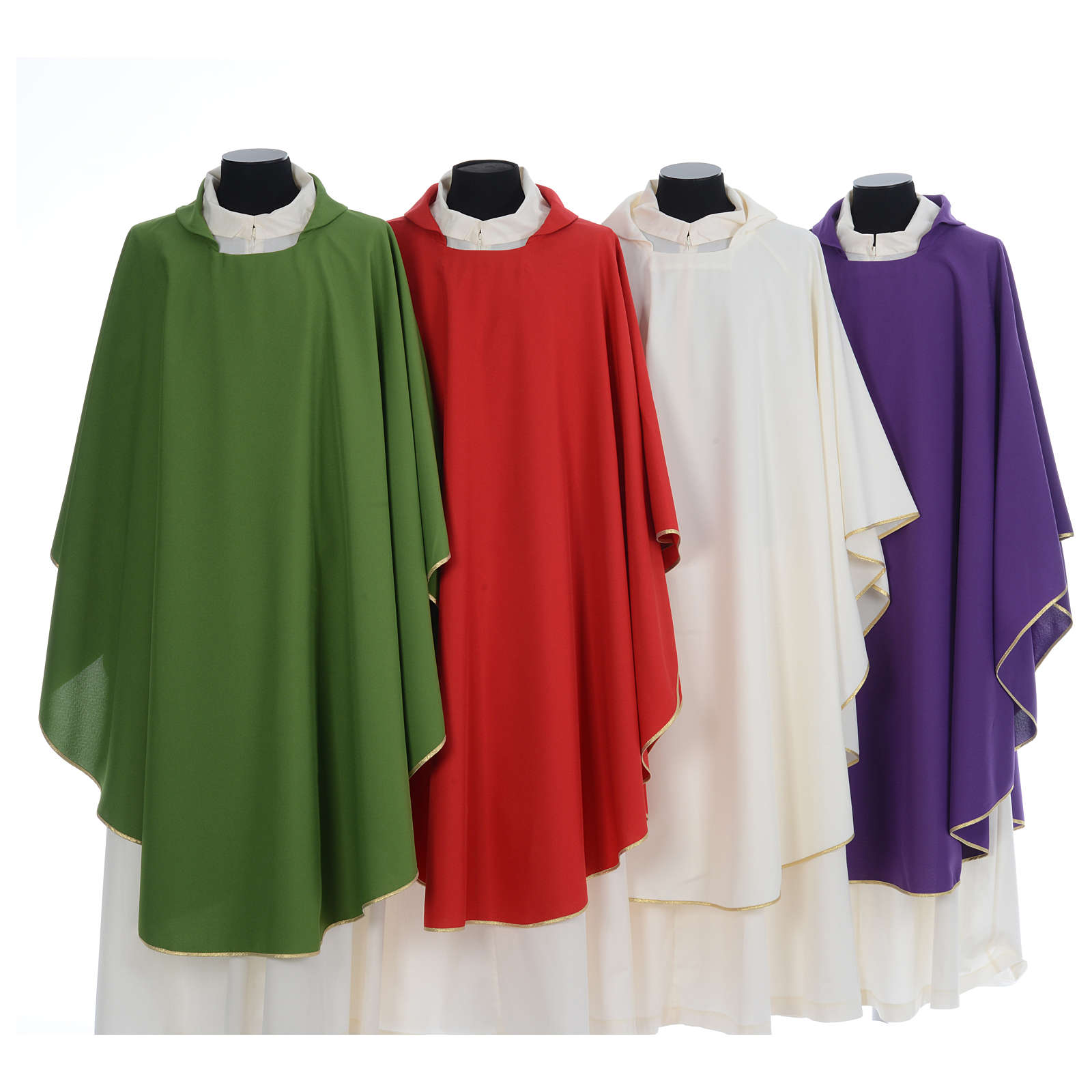 Chasuble liturgique simple 100% polyester 4