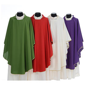 Chasuble liturgique simple 100% polyester s1