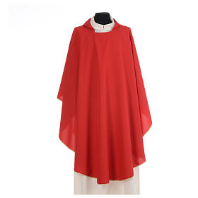 Chasuble liturgique simple 100% polyester s4