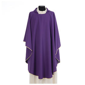 Chasuble liturgique simple 100% polyester s6