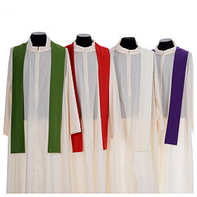 Chasuble liturgique simple 100% polyester s7