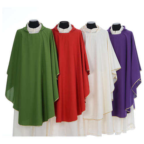 Chasuble liturgique simple 100% polyester 1