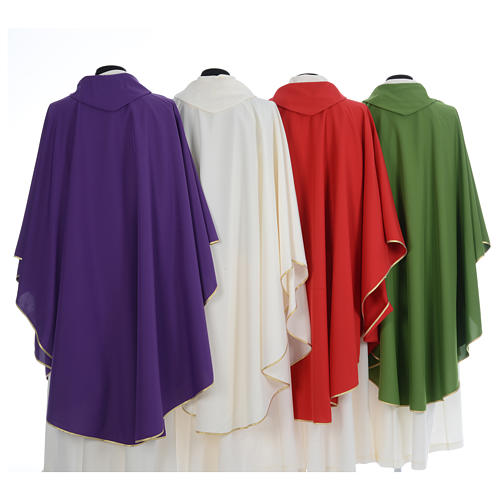 Chasuble liturgique simple 100% polyester 2