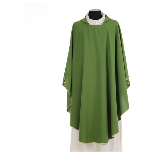 Chasuble liturgique simple 100% polyester 3