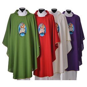 STOCK Pope Francis' Jubilee Chasuble with FRENCH writing s1