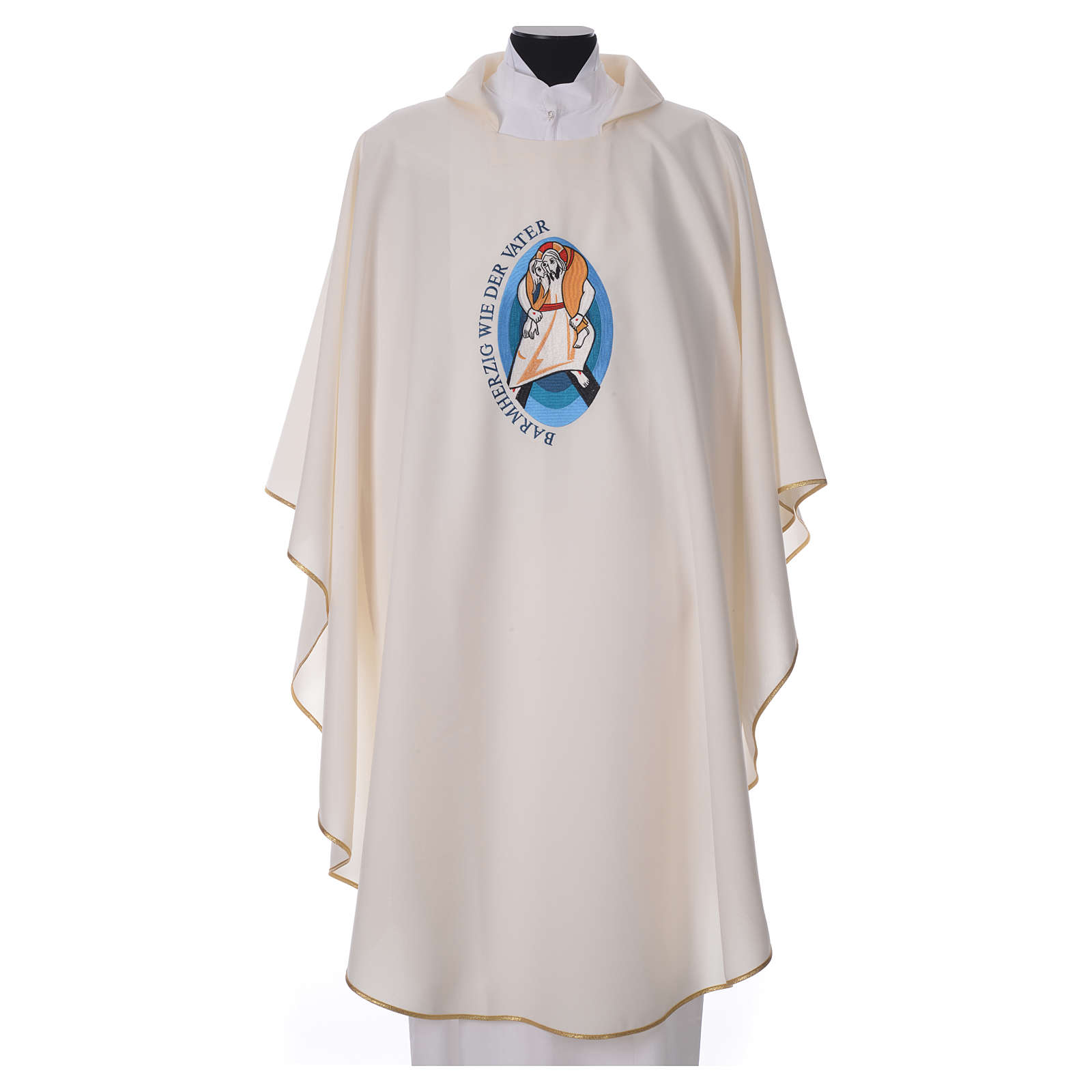 STOCK Pope Francis' Jubilee Chasuble with GERMAN writing 4