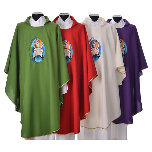 STOCK Pope Francis' Jubilee Chasuble with GERMAN writing 1