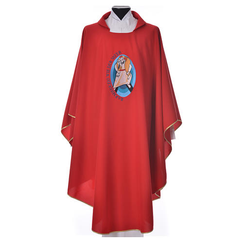 STOCK Pope Francis' Jubilee Chasuble with GERMAN writing 5