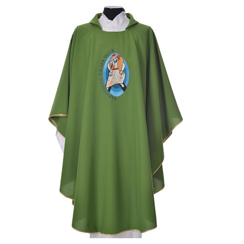 STOCK Pope Francis' Jubilee Chasuble with GERMAN writing 6