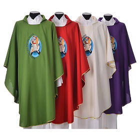 STOCK Pope Francis' Jubilee Chasuble with GERMAN writing s1